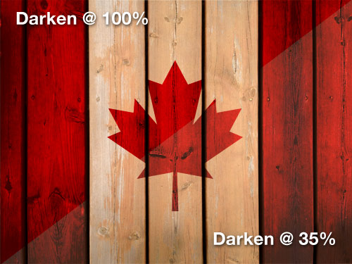 Canada Flag Background Tutorial - Step Four Image