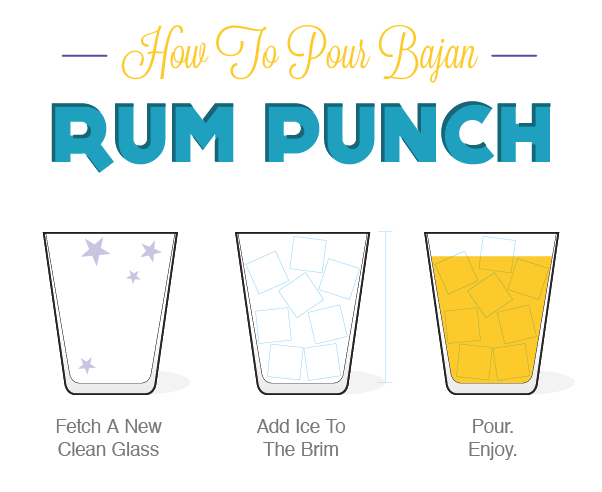 How to pour rum punch
